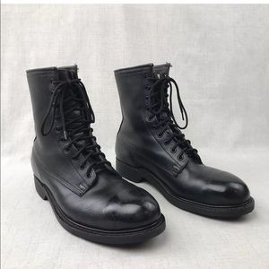 Wolverine Black Leather Military Boots 10R